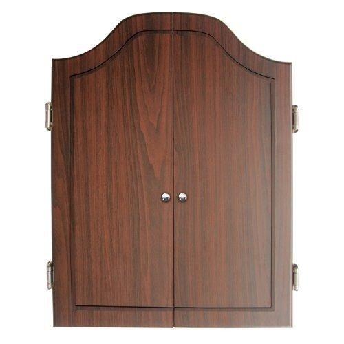 DMI Sports Dartboard Cabinet Set with Rustic Wood Finish