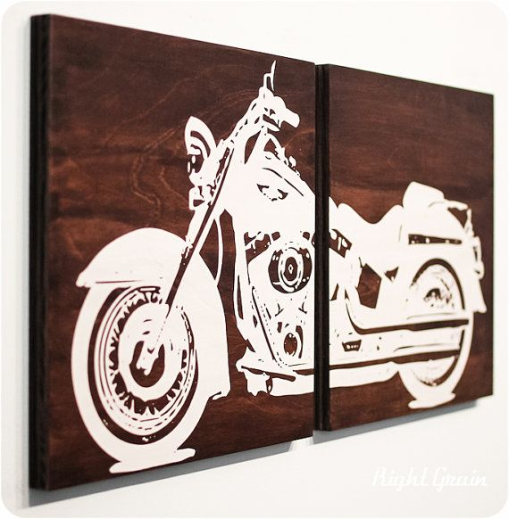 harley davidson vinyl wall art h wall decal. Black Bedroom Furniture Sets. Home Design Ideas