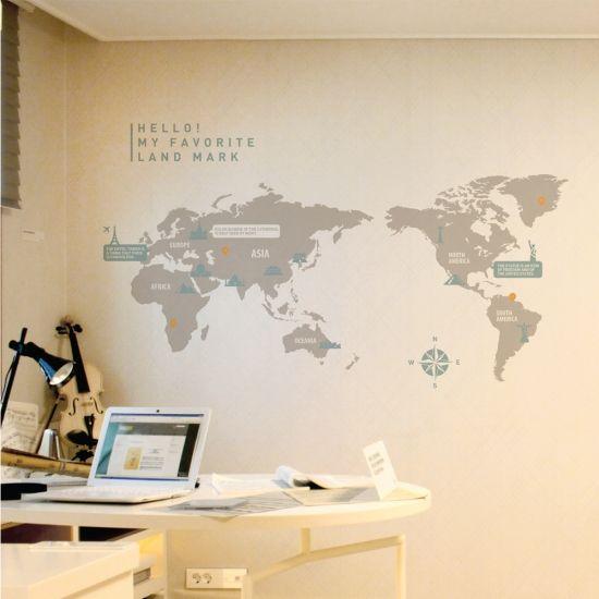 ランドマークやポイントで自分だけの思い出をプラス!オリジナルの世界地図を作ってみてください。