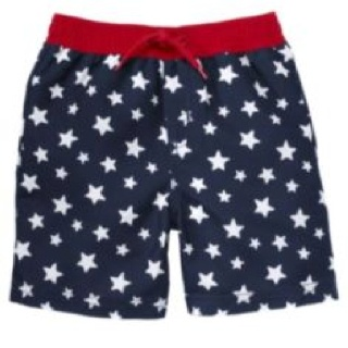 fourth of july swim trunks