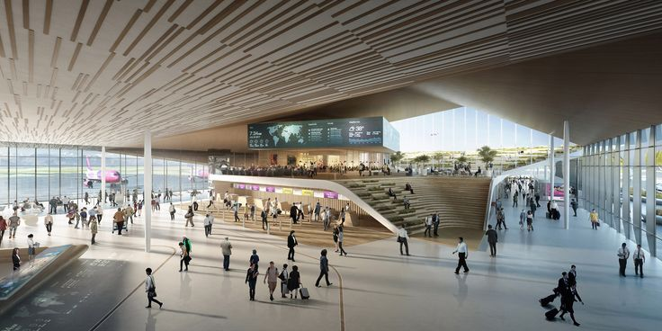 UNStudio's Kutaisi airport extension features an open air