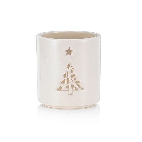 Tangle Tree Tea-Light Holder.      Handmade in cream ceramic, this delightful tea-light holder is a must for any festive scheme.