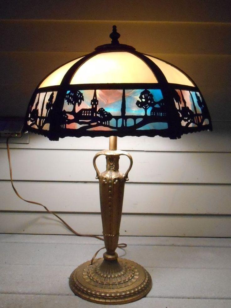 16 Best Slag Glass Table Lamps Images On Pinterest Glass