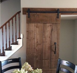 """Ready-to-Install Package Includes: Door finished as shown (40"""" x 84"""") Door handle as shown Sliding hardware as shown Matching wood header board for sliding hardware Specifications: 40"""" x 84"""" (up to 36"""" standard door opening) Customize at our showroom. Delivery available in GTA Pickup available from Burlington showroom Call for more information:1-855-646-LOFT"""
