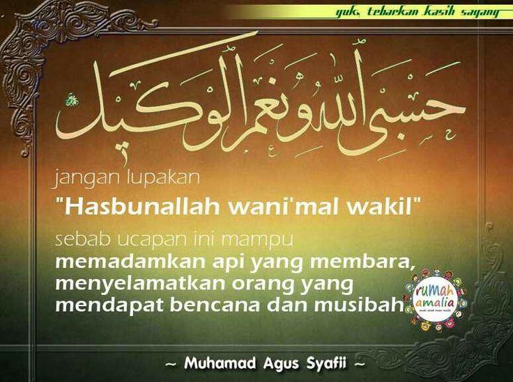 Bacalah 'Hasbunallah wani'mal wakil'