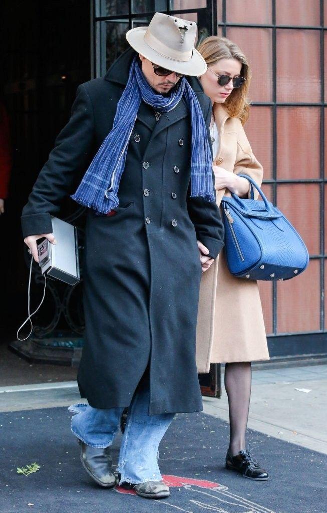Johnny Depp Photos: Johnny Depp  Amber Heard Leaving Their New York Hotel