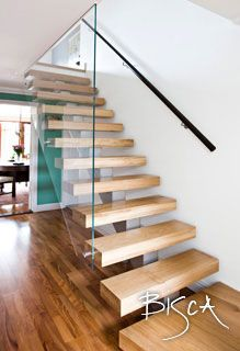 Bespoke contemporary staircase and glass wall