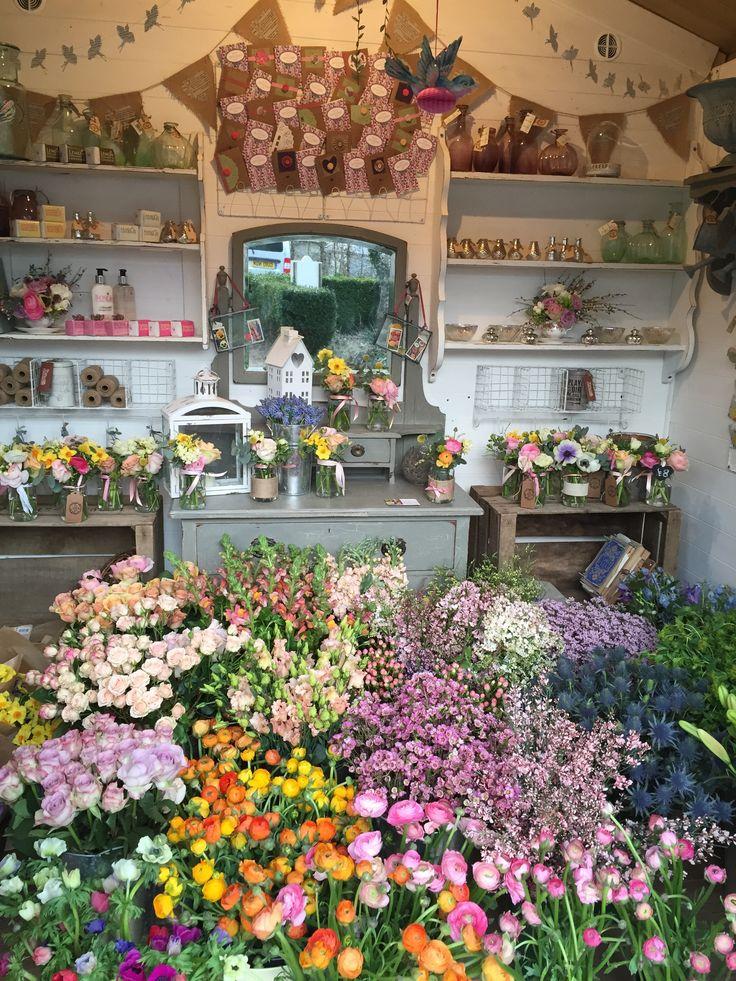 Flower Hut full to bursting with spring flowers! www.theenchantedflower.co.uk