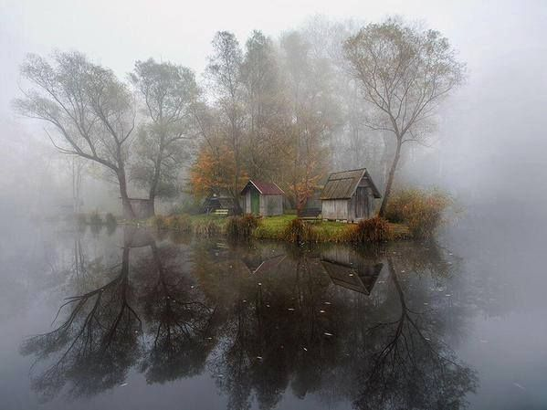 Mysterious, abandoned Hungarian lake village