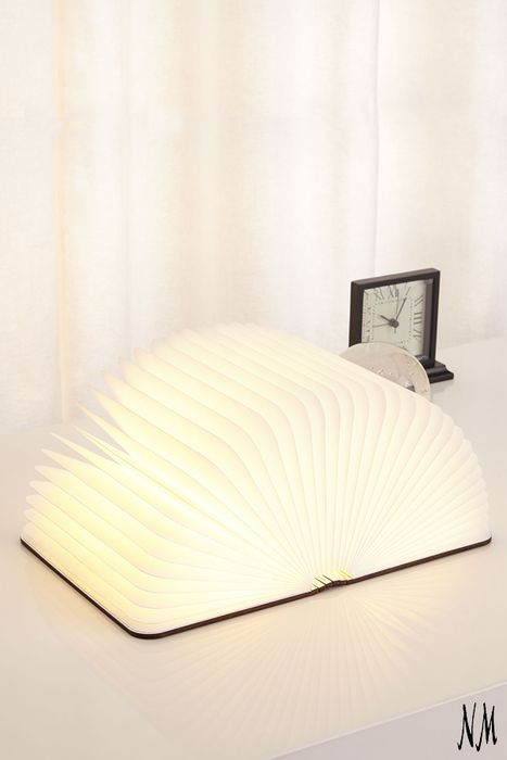 A whimsical gift for the avid reader in your life, this LED-powered Lumio Light Book cleverly conceals itself as a hardcover book when not in use. Perfect for both the old soul who stands by hardcovers and the Kindle devotee.
