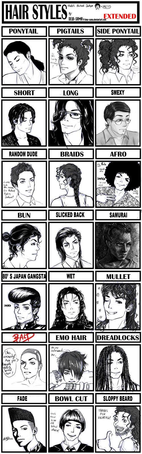 Hair Style Meme-MJ by Dew-Sama