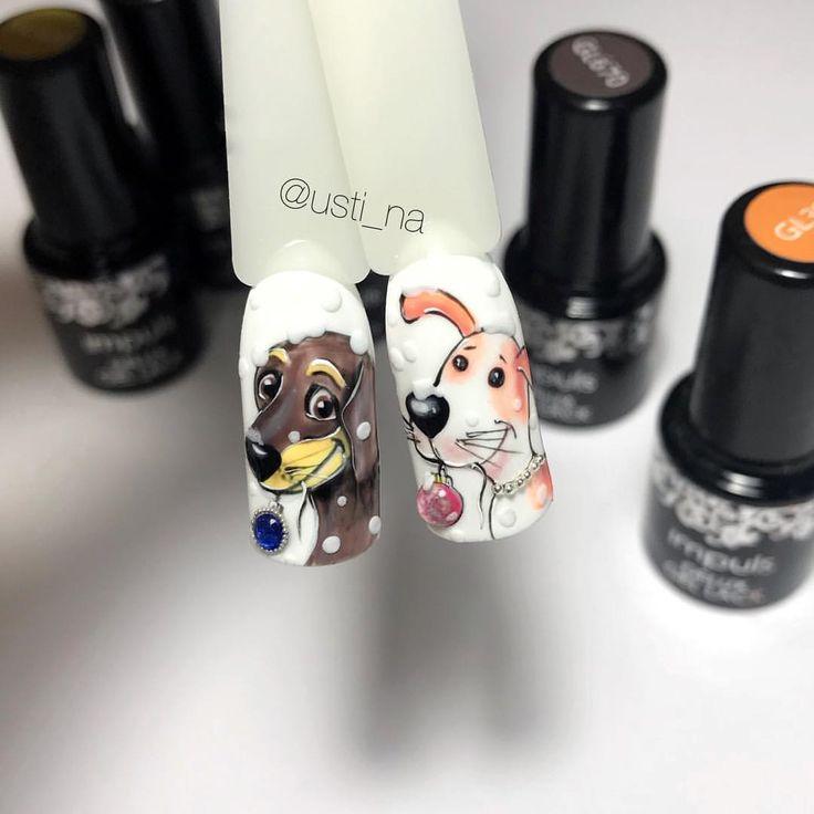 1,036 отметок «Нравится», 34 комментариев — Маникюр и дизайн ногтей (@usti_na) в Instagram: «Два друга)) Какой больше нравится 1 или 2? Дизайн выполнен материалами от ➡️ @impuls_studio ,…»