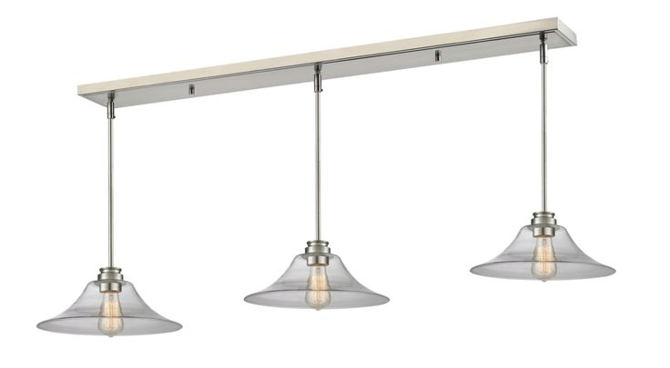 Annora Contemporary Clear Drop Pool Table Light