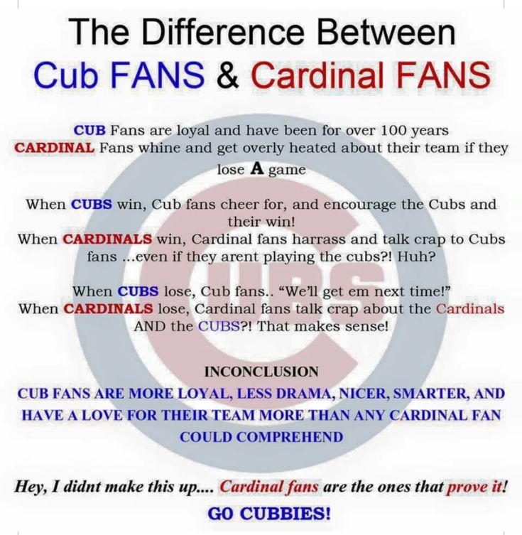 Cub fans vs. Cardinal fans