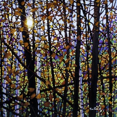 """Title: Algonquin Pastels   Medium: Oil on Canvas  Dimension: 24"""" x 24""""  by Tim Packer"""