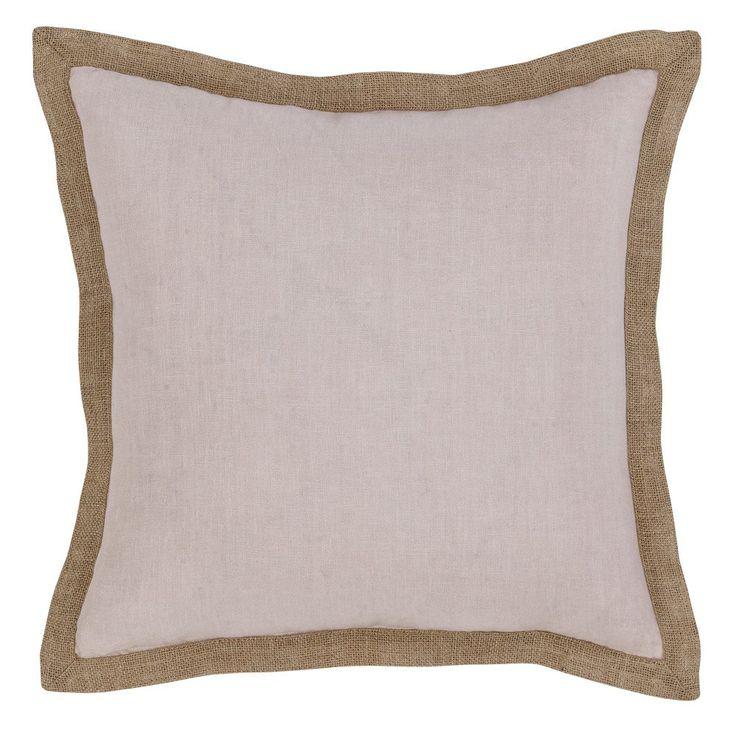 Hampton Linen Cushion 50x50cm - Shell
