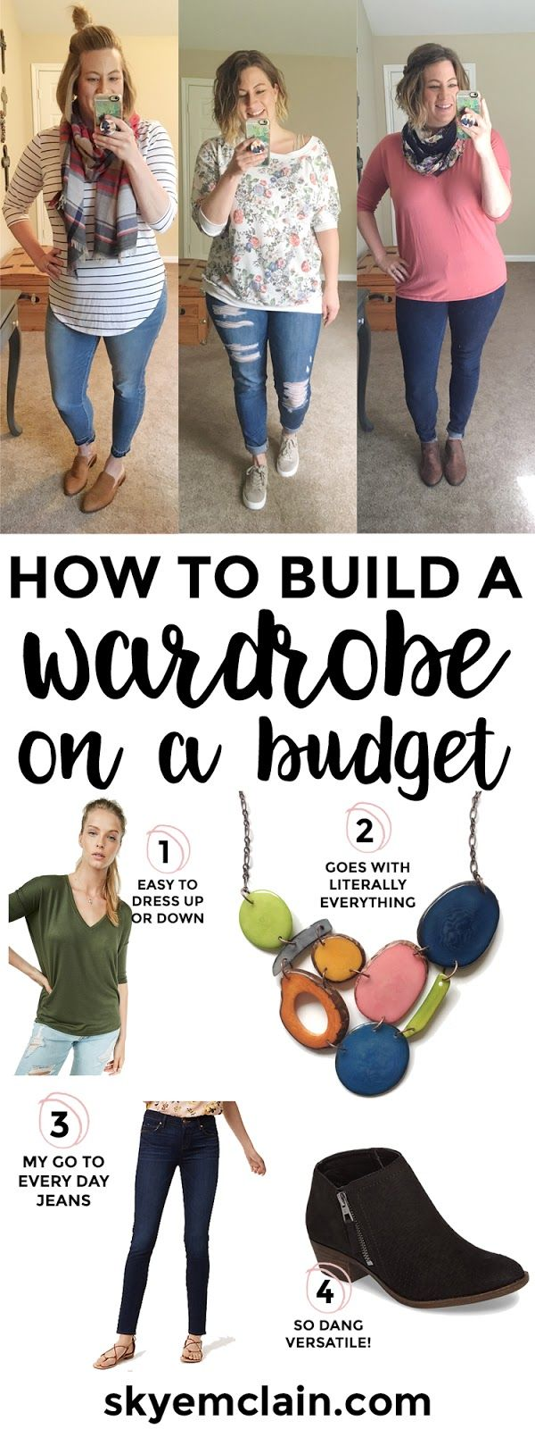 Creating a wardrobe on a budget does not have to be complicated or fussy! See how she found what worked best for her and built a super cute wardrobe without breaking the bank! #fashion #ootd