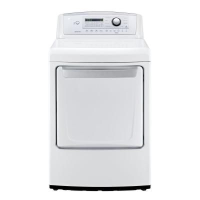 LG Electronics 7.3 cu. ft. Gas Dryer in White-DLG4971W at The Home Depot