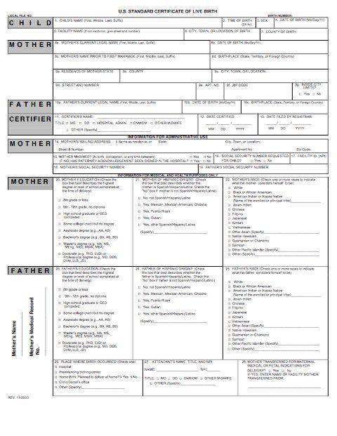 15 Birth Certificate Templates (Word & PDF) - Template Lab