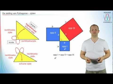 Pythagoras - De stelling van Pythagoras deel 2 - WiskundeAcademie