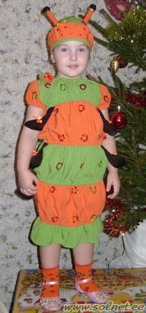 Детский костюм гусеницы сшить самому
