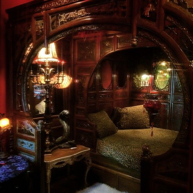 The Opium Den Adam Wallacavage Chandeliers  Gorgeous Bohemian bedroom