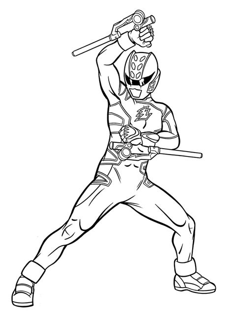 Power Rangers coloring pages free
