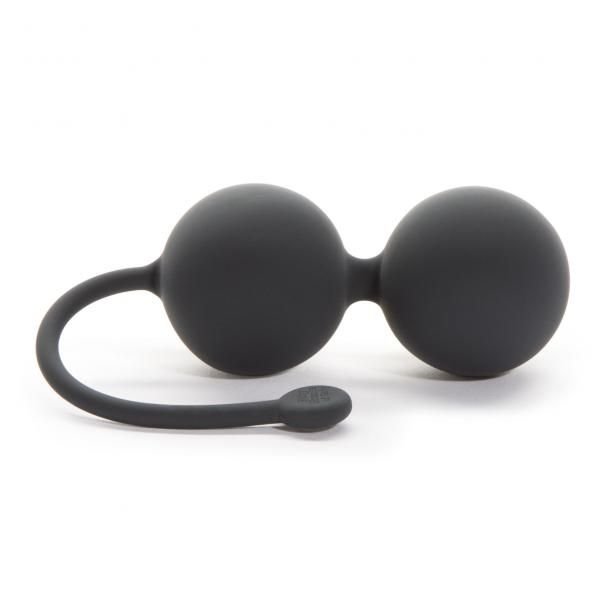 Fifty Shades of Grey Weekend Collection Tighten and Tense Silicone Jiggle Balls Gray.