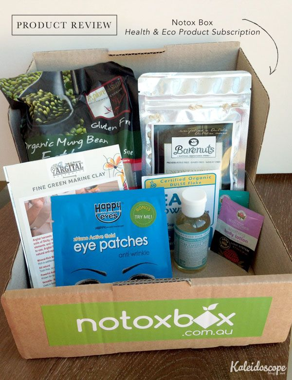 Product Review // Notox Box - health and eco product month box subscription Australia