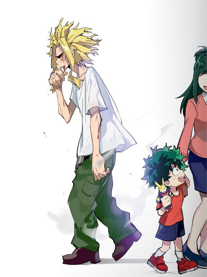 Izuku And His Mom Cluelessly Passing True Form Allmight