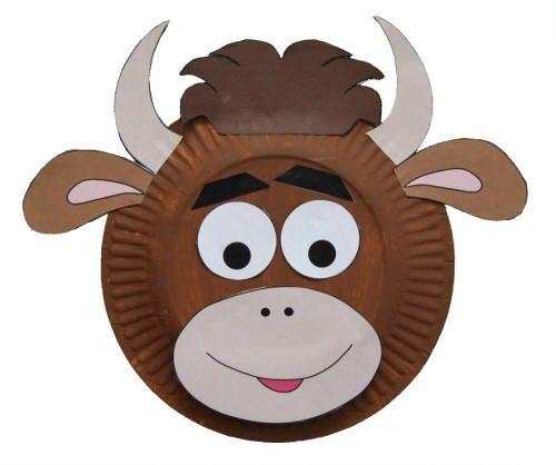 alsalirdelcole Máscaras de animales con platos de papel - alsalirdelcole