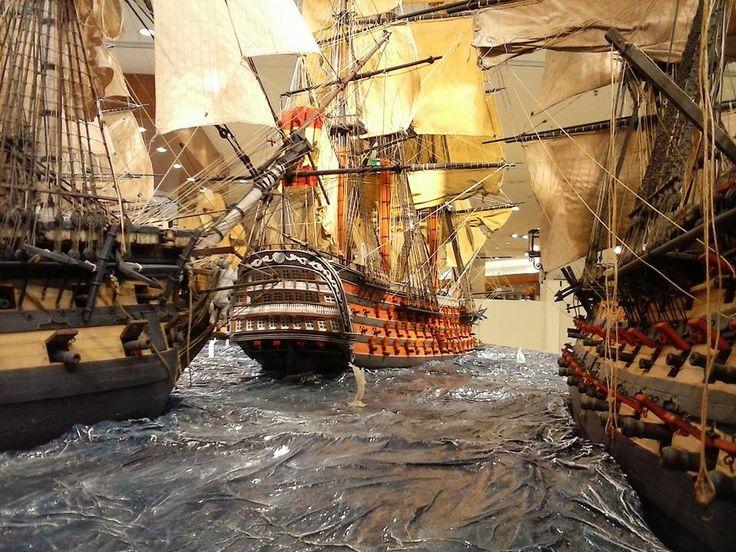 Diorama Barcos Santisima Trinidad Batalla Trafalgar 8