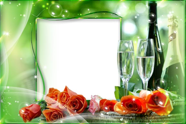 Champagne Glasses Photo Frame : 125 best images about Photo Frames / Borders on Pinterest