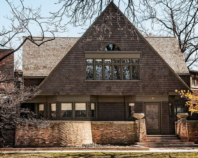 Wright Home and Studio. Oak Park, Illinois. 1889. Frank Lloyd Wright.