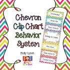 Chevron Clip Chart Behavior.  Includes Parent Letter, Think Sheet & Weekly Progress Reports!
