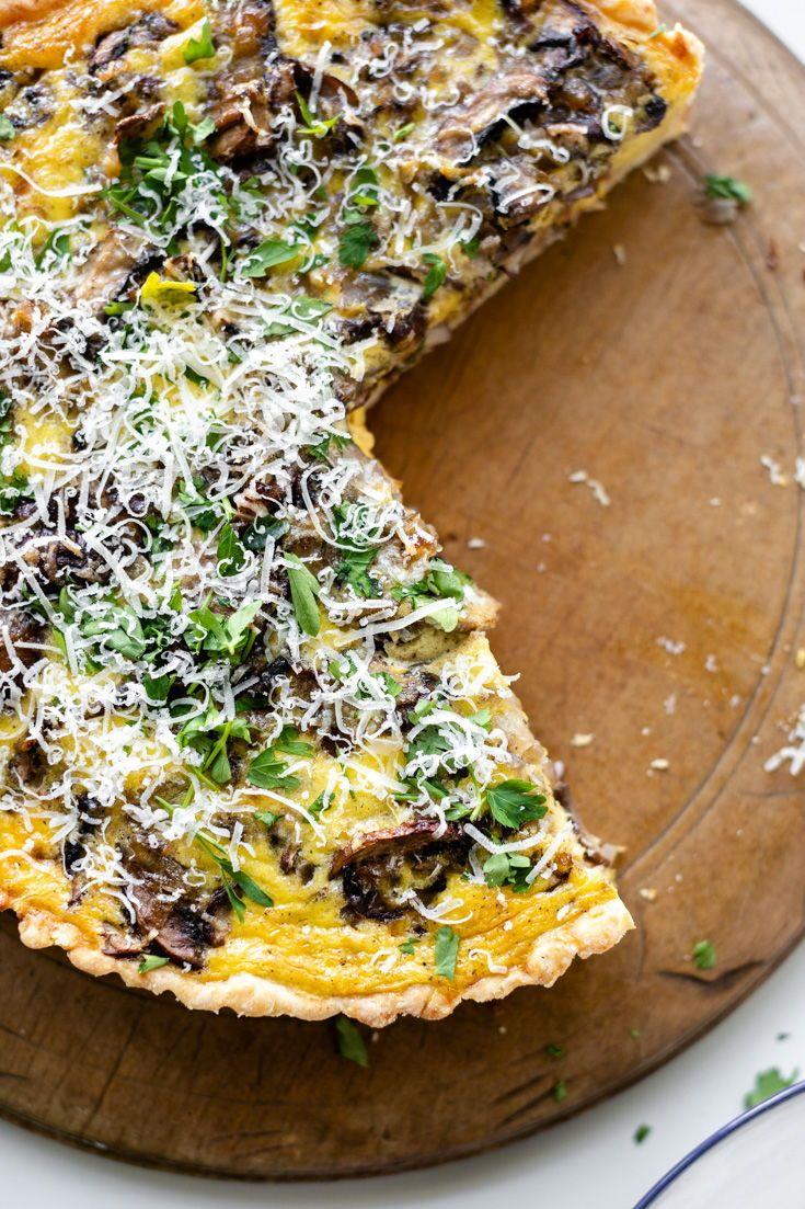 Breakfast Quiche With Bacon Mushrooms Gruyere Wyse Guide Recipe Breakfast Brunch Recipes Breakfast Brunch Recipes