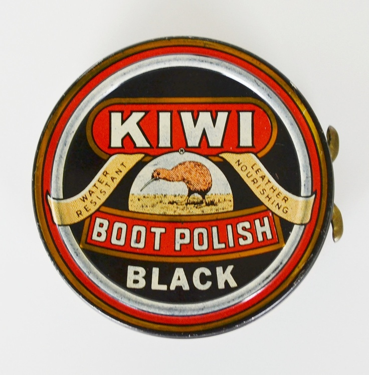 "Kiwi Black Boot Polish - ""spit and polish"" as Dad would say!"