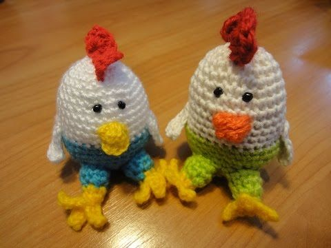 Пасхальный цыпленок Easter chick Crochet - YouTube