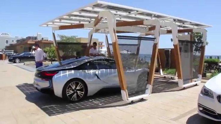BMW Designworks Solar Carport and BMW i Wallbox Pro