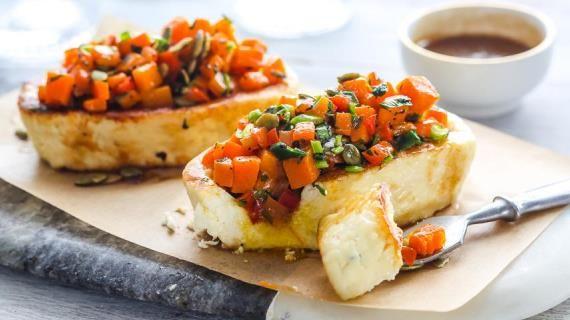 Жареный адыгейский сыр с овощами. Пошаговый рецепт с фото, удобный поиск рецептов на Gastronom.ru