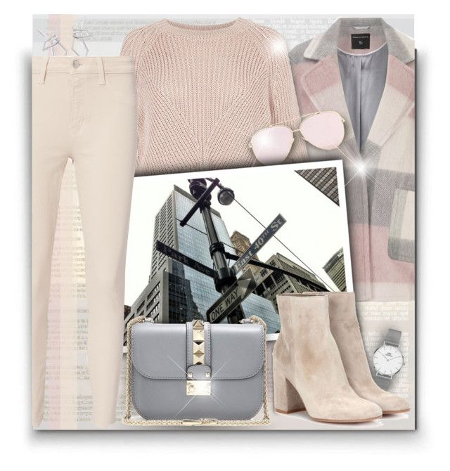 """""""What to Wear in NY!"""" by asia-12 ❤ liked on Polyvore featuring Dorothy Perkins, River Island, W. Britt, Daniel Wellington, Valentino, L'Agence, Gianvito Rossi and NYFW"""