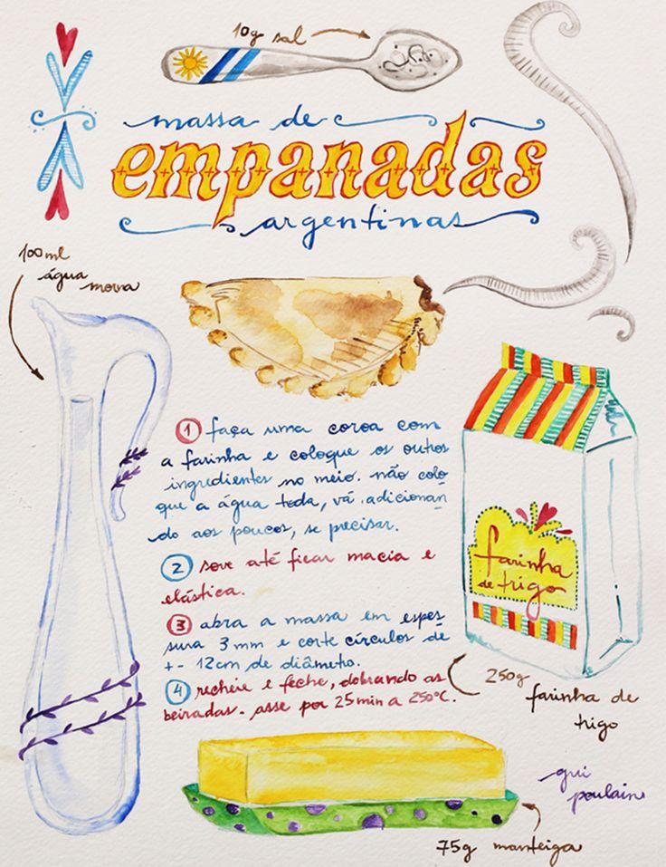 Uma das famosas receitas ilustradas de Guilherme Poulain.