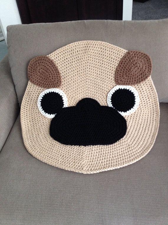 Free Crochet Pug Rug Pattern : 1000+ images about Crochet Rugs su Pinterest Motivo ...