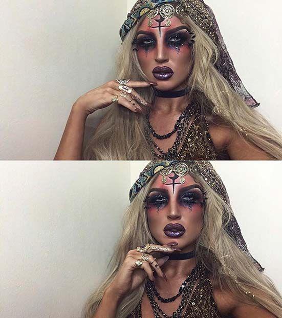 Probieren Sie 25 einzigartige Halloween-Make-up-Ideen aus