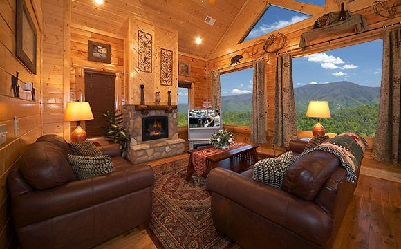 living room: Decor Ideas, Living Rooms, The View, Country Home, Mountain Cabin, Home Decor, Westerns Decor, Logs Cabin, Rustic Home