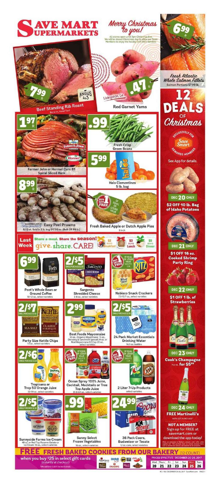 Save Mart Weekly ad December 20 - 26, 2017 - http://www.olcatalog.com/save-mart/save-mart-weekly-ad.html