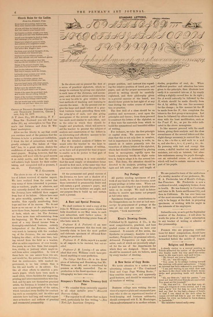Penman 39 S Art Journal Spencerian Business Script