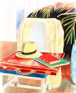 Still Life, Taj Hotel, Bombay, 1977 crayon on paper - DAVID HOCKNEY: PAINTINGS