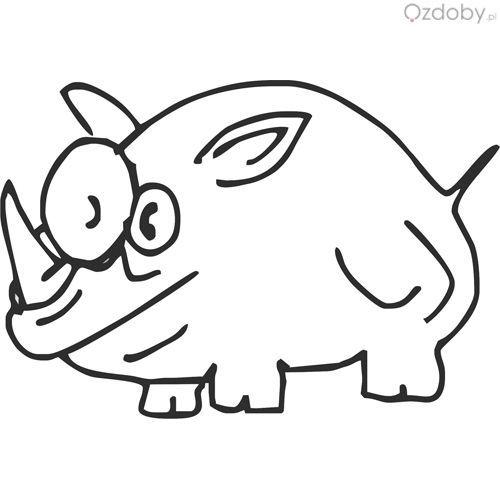 Usługi grawerowane - nosorożec