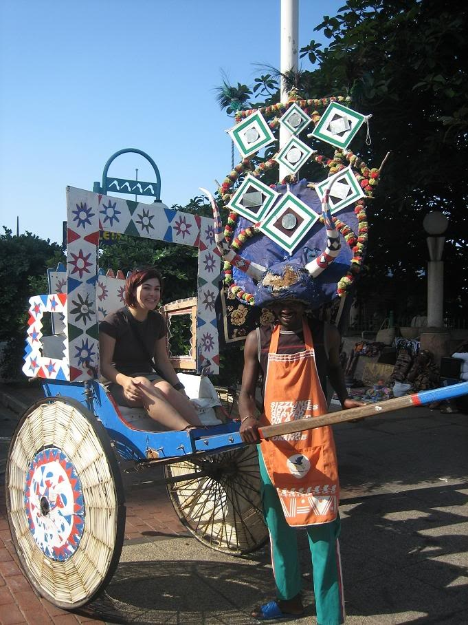 Zulu rickshaw in Durban, South Africa